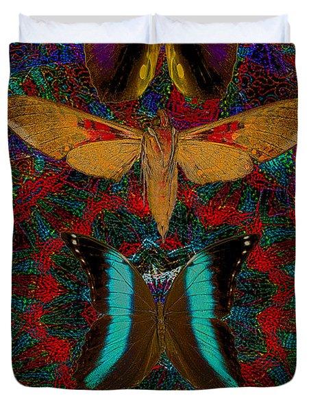 Solar Butterfly Duvet Cover