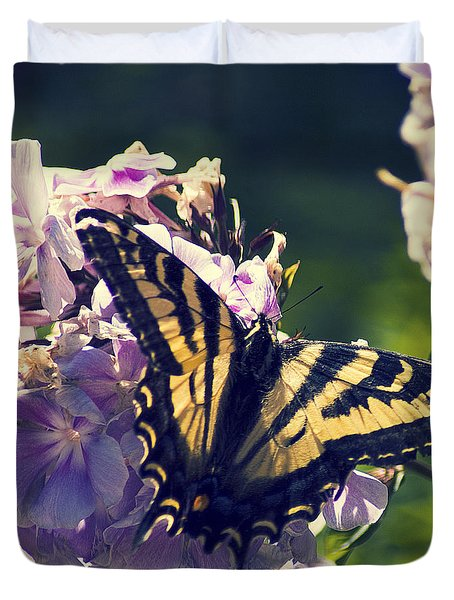 Duvet Cover featuring the photograph Butterfly by Yulia Kazansky