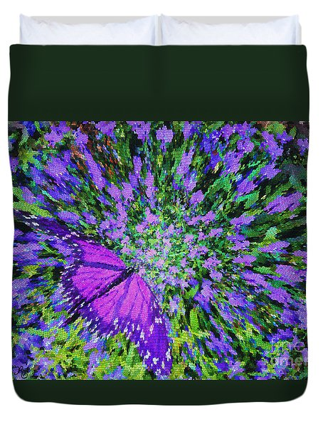 Duvet Cover featuring the digital art Butterfly.1 by Mariarosa Rockefeller