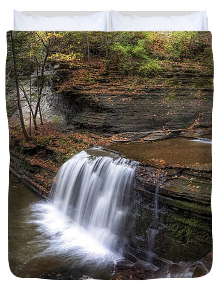 Buttermilk Creek Falls Duvet Cover by Mark Papke