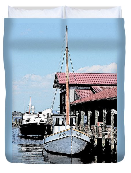 Buy Boat Old Point Duvet Cover