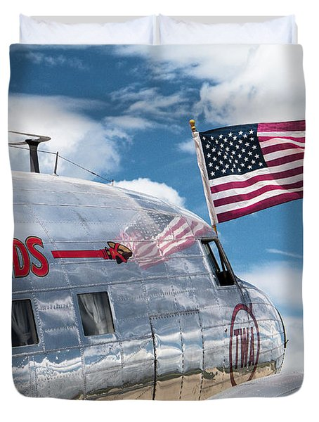 Duvet Cover featuring the photograph Buy Bonds by Steven Bateson