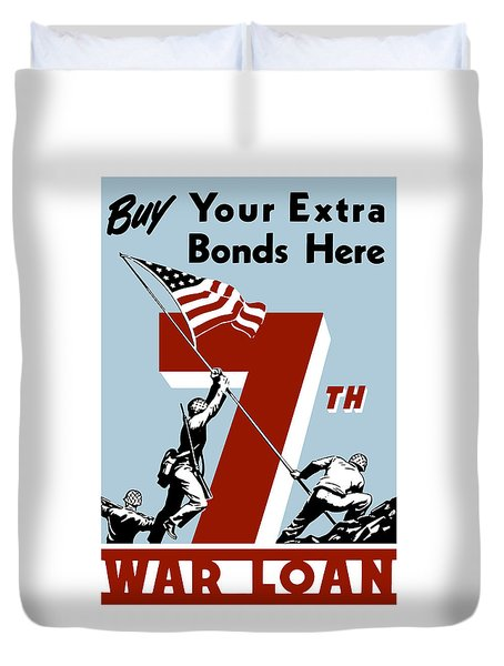 Buy Your Extra Bonds Here Duvet Cover by War Is Hell Store