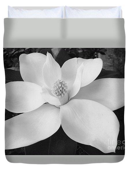 B W Magnolia Blossom Duvet Cover