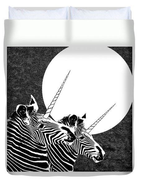 Duvet Cover featuring the photograph By The Light Of The Moon by I'ina Van Lawick