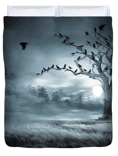 By The Moonlight Duvet Cover by Lourry Legarde