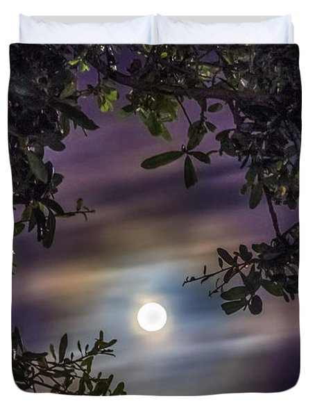 By The Moonlight Duvet Cover