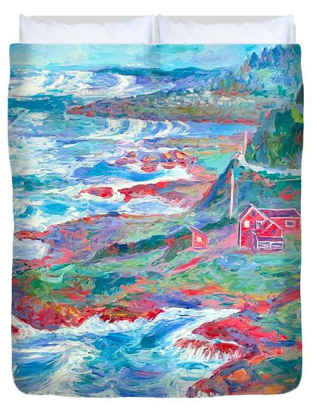 By The Sea Duvet Cover by Kendall Kessler