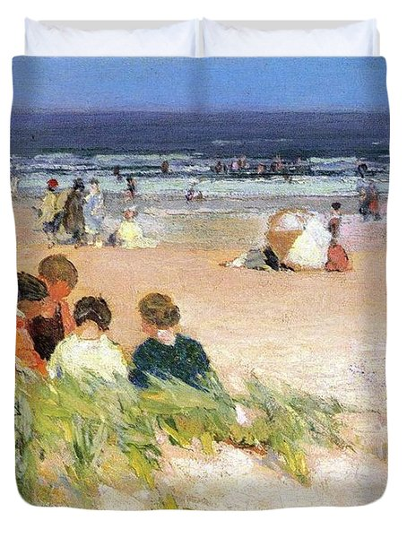 By The Shore Duvet Cover by Edward Potthast