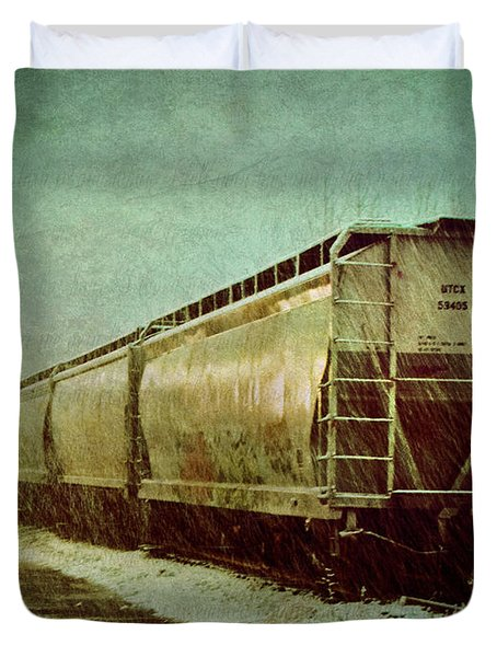 By The Tracks Duvet Cover