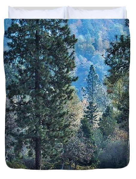 Duvet Cover featuring the photograph Bye Bye Fall by Julia Hassett