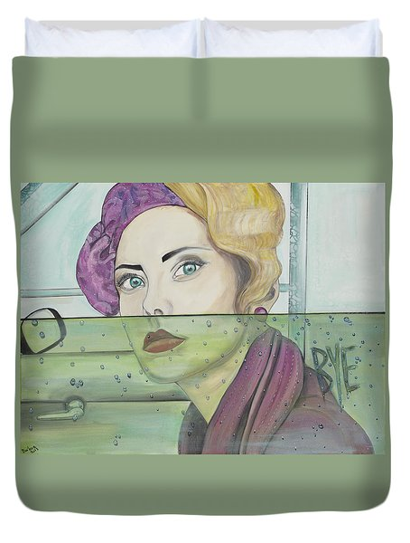 Bye Duvet Cover by Darlene Graeser