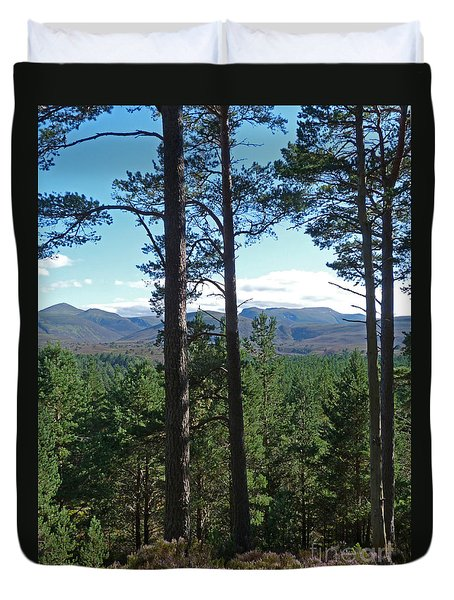Duvet Cover featuring the photograph Cairngorms From Abernethy Forest by Phil Banks