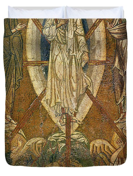 Byzantine Icon Depicting The Transfiguration Duvet Cover