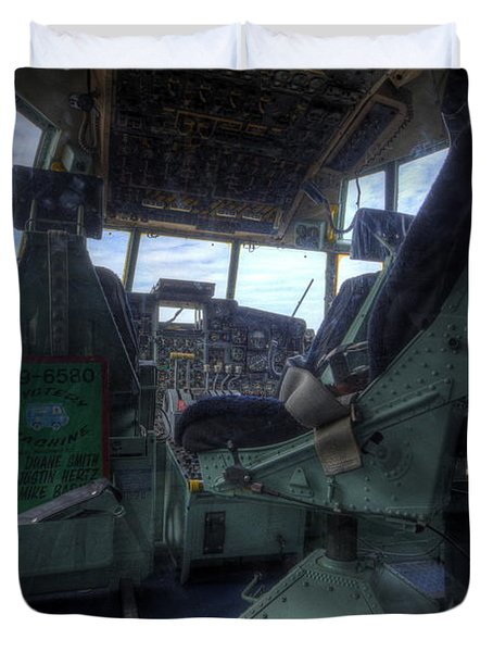 C-130 Cockpit Duvet Cover