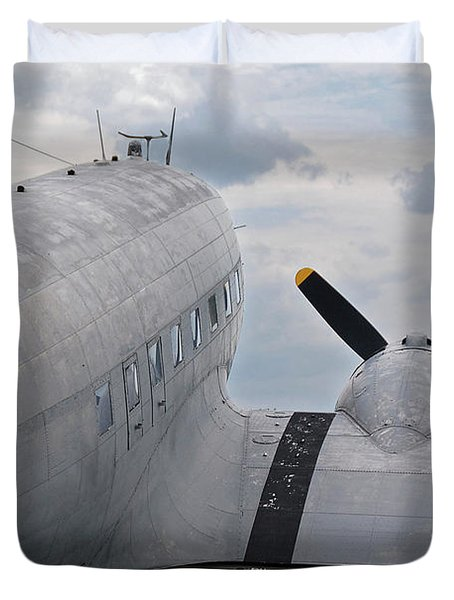 Duvet Cover featuring the photograph C-47 3880 by Guy Whiteley