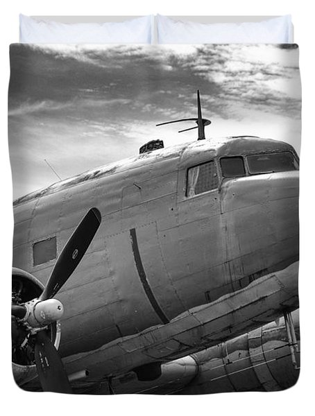 C-47 Skytrain Duvet Cover by Guy Whiteley