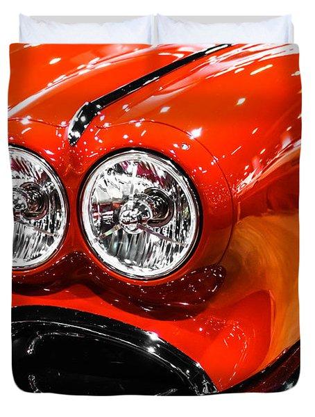 C1 Red Chevrolet Corvette Picture Duvet Cover by Paul Velgos