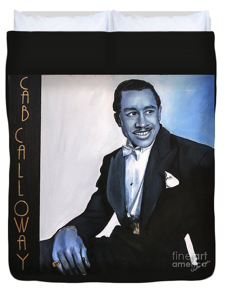Cab Calloway Duvet Cover by Chelle Brantley