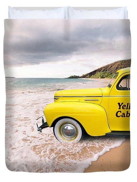 Cab Fare To Maui Duvet Cover
