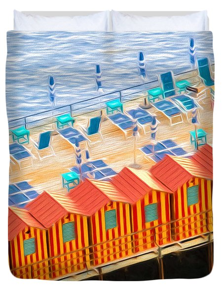 Cabanas Of Sorrento Duvet Cover
