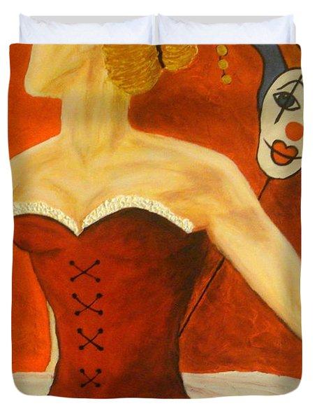 Cabaret Ballerina Duvet Cover by Elena  Constantinescu