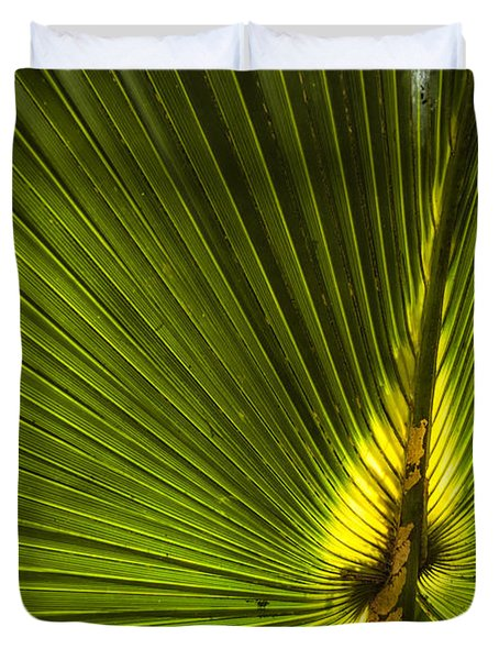 Cabbage Palm Duvet Cover