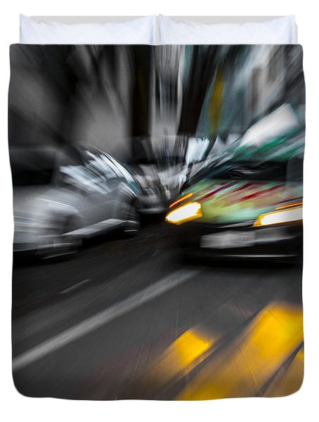 Cabbie Too Fast Duvet Cover