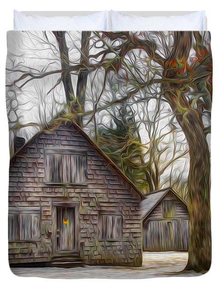 Cabin Dream Duvet Cover by Debra and Dave Vanderlaan