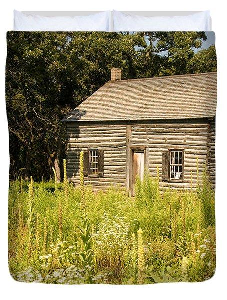 Cabin In The Prairie Duvet Cover
