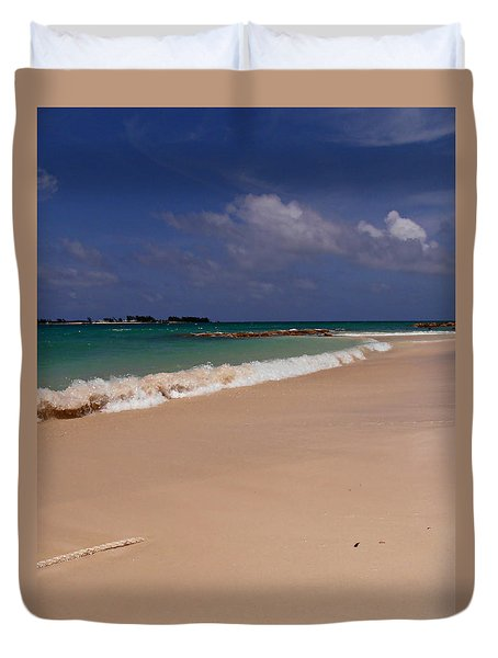 Cable Beach Bahamas Duvet Cover by Kimberly Perry