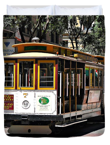 Cable Car - San Francisco Duvet Cover