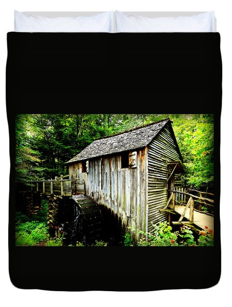 Cable Mill - Cades Cove Duvet Cover by Stephen Stookey