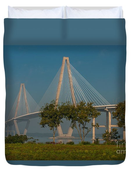 Cable Stayed Bridge Duvet Cover