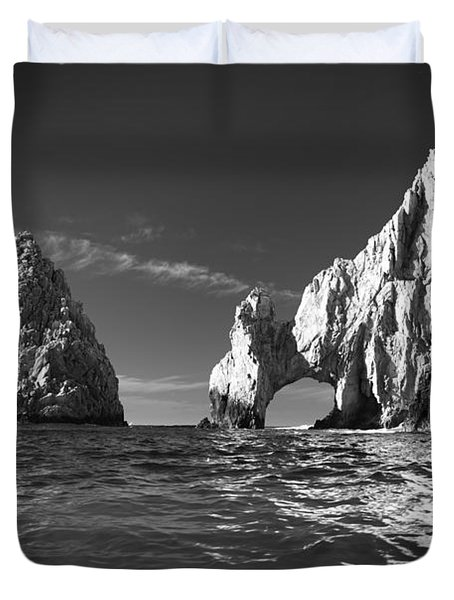 Cabo In Black And White Duvet Cover