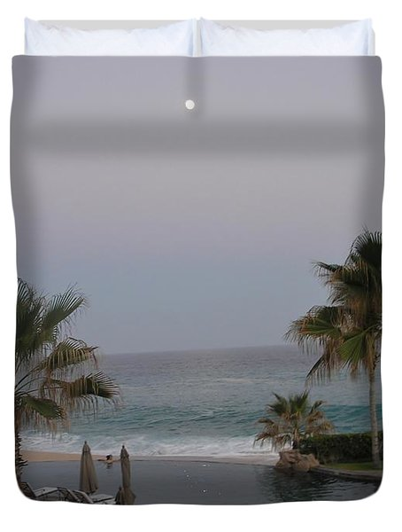 Duvet Cover featuring the photograph Cabo Moonlight by Susan Garren