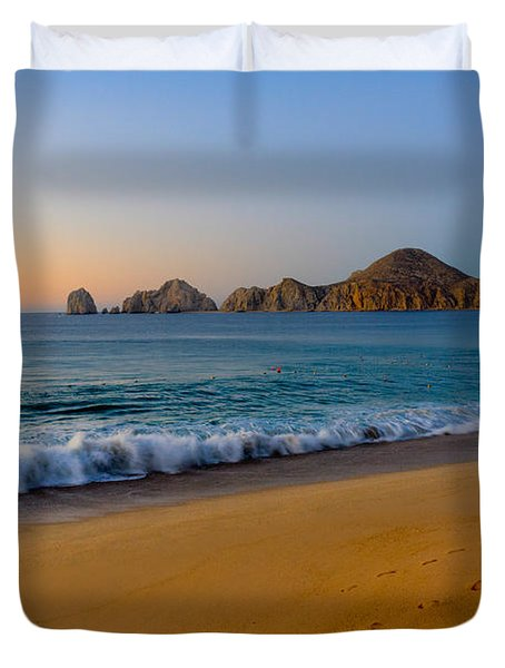 Cabo San Lucas Morning Duvet Cover by Mark Goodman
