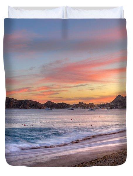 Cabo Sunset Duvet Cover by Mark Goodman