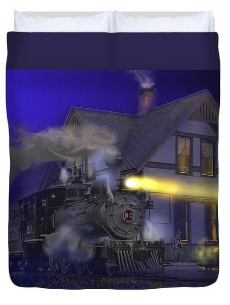 Caboose Hop At Dolores Colorado Duvet Cover by J Griff Griffin