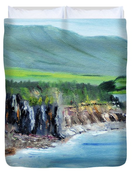 Cabot Trail Coastline Duvet Cover by Michael Daniels