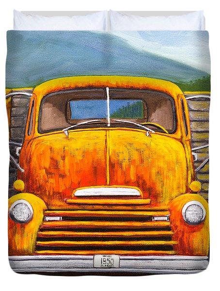 Cabover Truck Duvet Cover