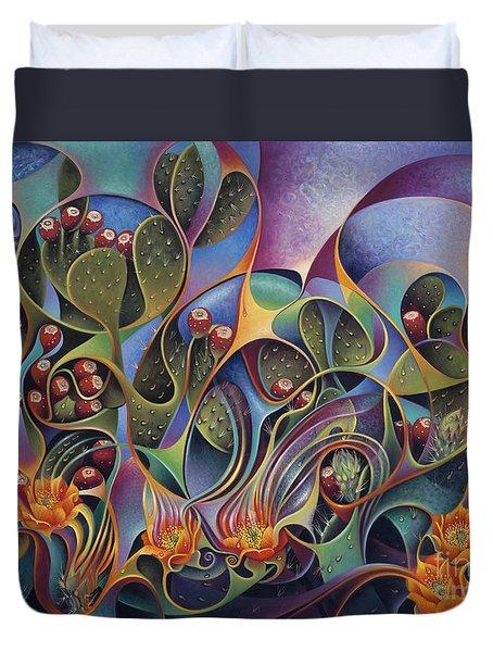 Cactus Dinamicus 3d Duvet Cover