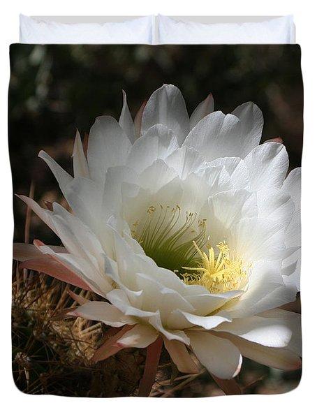 Cactus Flower Full Bloom Duvet Cover