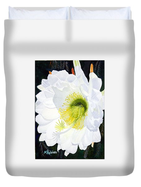 Cactus Flower II Duvet Cover by Mike Robles