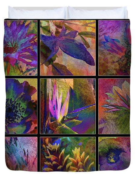 Cactus Flowers Duvet Cover by Barbara Berney