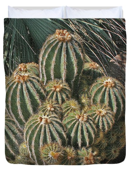 Duvet Cover featuring the photograph Cactus In The Garden by Tom Janca