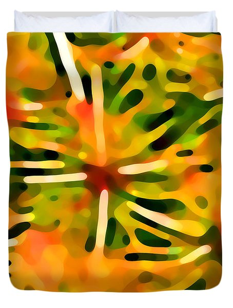 Cactus Pattern 3 Yellow Duvet Cover by Amy Vangsgard