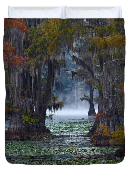Caddo Lake Morning Duvet Cover