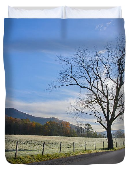 Tree On A Frosty Morn Duvet Cover