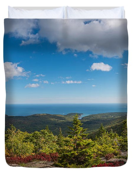 Cadillac Mountain Panorama 2 Duvet Cover